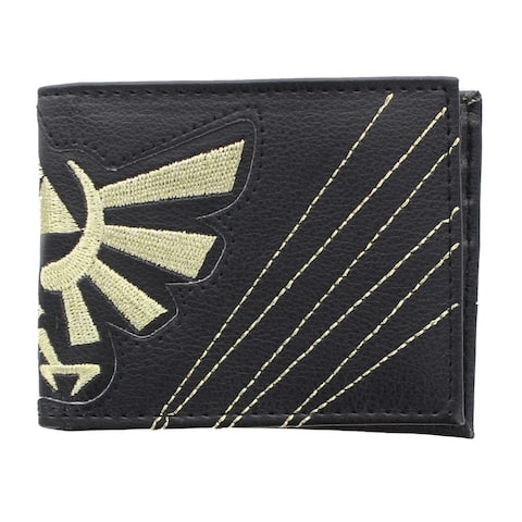 Legend Of Zelda Embossed Hylian Crest Bi-Fold Wallet - Black