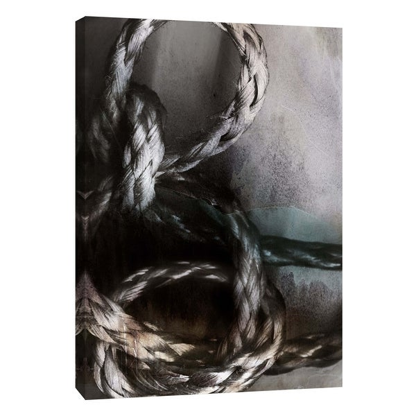"""PTM Images 9-105844 PTM Canvas Collection 10"""" x 8"""" - """"Knotted Rope Study 1"""" Giclee Abstract Art Print on Canvas"""
