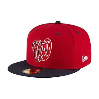 New Era Unisex Washington Nationals Alt3 59Fifty Fitted Cap, Red/Black, 7 - Red/black