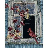 """Old Window Counted  Cross Stitch Kit-11.75""""X17.75"""" 14 Count"""