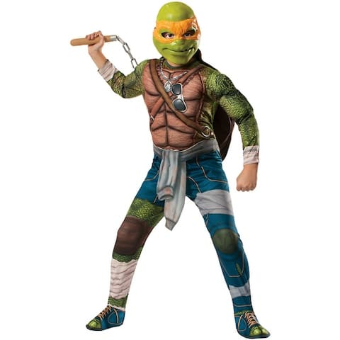 Rubies TMNT Movie Deluxe Michelangelo Child Costume - Solid