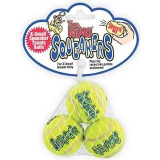 Small Air Kong 3 Pack Squeaker Tennis Balls