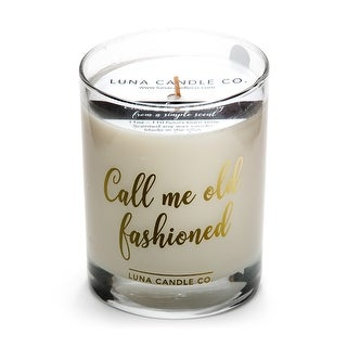 Fine Bourbon Soy Jar Candle, Sandalwood Scent-Call Me Old Fashioned
