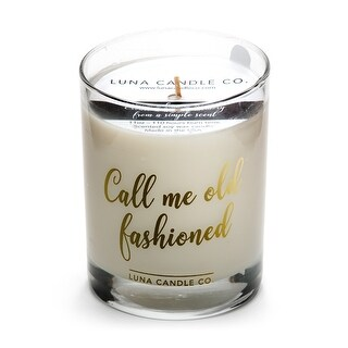 Spicy Bourbon Jar Candle, Soy Wax,Strong Scented-Call Me Old Fashioned