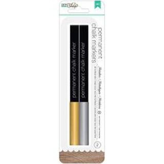 Gold & Silver/Broad Tip - DIY Shop 2 Permanent Chalk Markers 2/Pkg