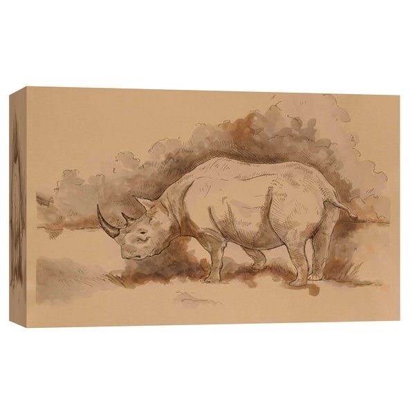 "PTM Images 9-102185 PTM Canvas Collection 8"" x 10"" - ""Radar"" Giclee Rhinoceroses Art Print on Canvas"