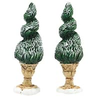 "Department 56 ""Tudor Gardens Spiral Shrubs"" Set of 2 Village Accessory #4047589 - multi"