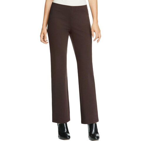 Eileen Fisher Womens Petites Straight Leg Pants Tencel Ponte