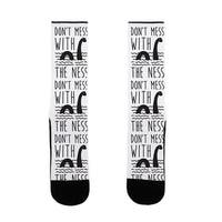 LookHUMAN Don't Mess With The Ness US Size 7-13 Socks