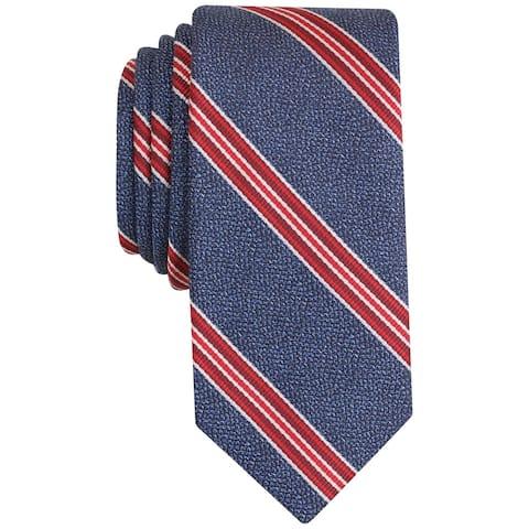bar III Mens Corby Stripe Self-tied Necktie, blue, One Size - One Size
