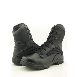 Bates ZR-8 Men EW Round Toe Leather Black Combat Boot