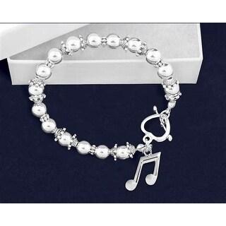 Music Note Beaded Charm Bracelet