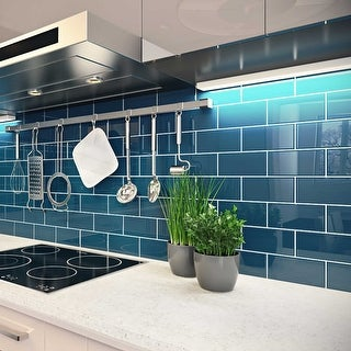 Dark Teal Subway 5 Square Foot Tiles