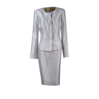 Kasper Women's Embellished Shantung Skirt Suit - 6