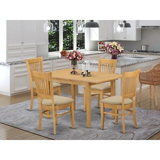 Nova 5-piece Kitchen Dinette Table and Chairs Set - Oak