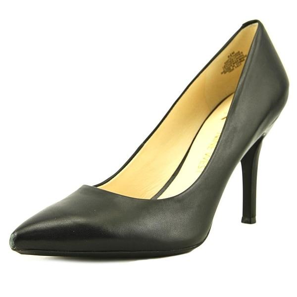 Nine West Fifth 9x9 Women Pointed Toe Leather Black Heels