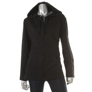 Karen Scott Womens Hooded Long Sleeves Track Jacket - M