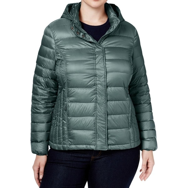b7185f3d7c40b Shop 32 Degrees Heat Womens Plus Packable Coat Down Feather Filled Quilted  - 0X - Free Shipping Today - Overstock - 18686943