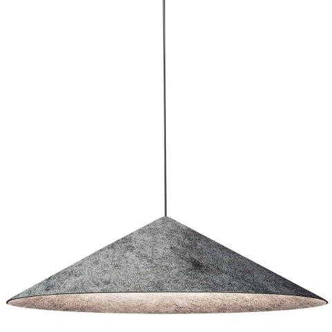 Dainolite Jessica Contemporary Matte Black Luxury Pendant Light Modern Pendant Light w/ Grey Tapered Drum Shade