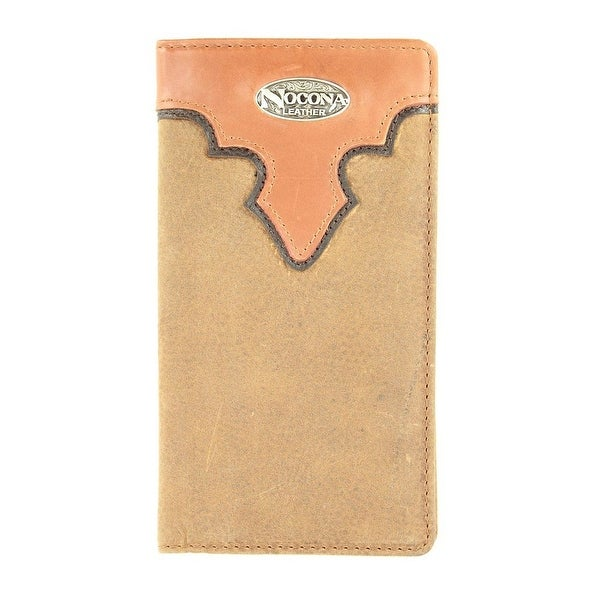 Nocona Western Wallet Classic Mens Rodeo Overlay Logo - One size