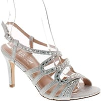 De Blossom Collection Womens Rita-6 Strappy Dress Heel Sandals