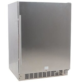 EdgeStar CBR1501OD 24 Inch Wide 142 Can Built-In Outdoor Beverage Cooler with Optional Casters