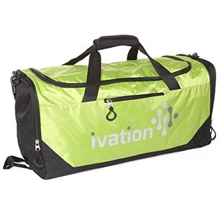 Sports Gym Duffel Bag 100% Water Repellent Polyester Ideal for Gym Fitness Camping Track Traveling & More (Option: Green)