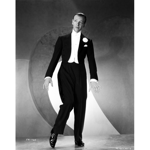 Shop Fred Astaire Dancing In Black Shoes Black Suit And White Bow