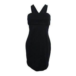 Larsen Gray Juniors' Cut Out Dress (L, Black) - Black - L
