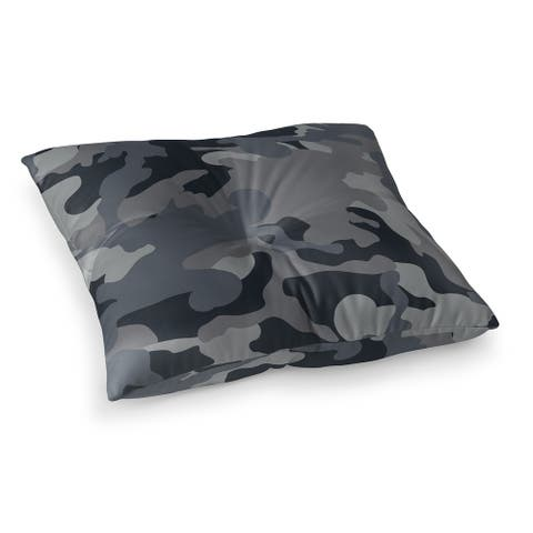 CAMO FLOW CHARCOAL Floor Pillow by Kavka Designs