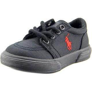 Polo Ralph Lauren Faxon II Toddler Round Toe Canvas Black Sneakers