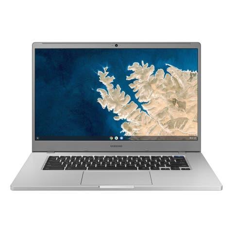 """Samsung Chromebook 4 15.6"""" 4GB 128GB Intel Celeron N4000 X21.10GHz,Silver (Certified Refurbished) - Silver"""