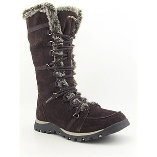 Skechers Grand Jams-Unlimited Round Toe Suede Snow Boot