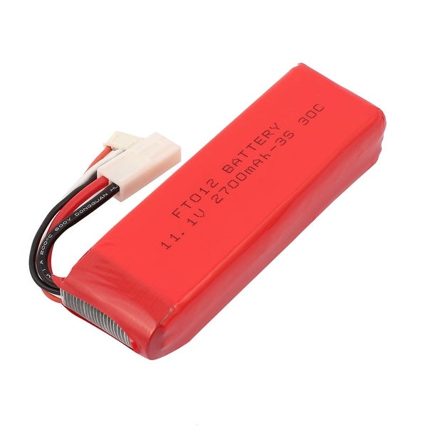 DC 11.1V 2700mAh Red Recycle Charging Lithium Battery Pack for RC Boat