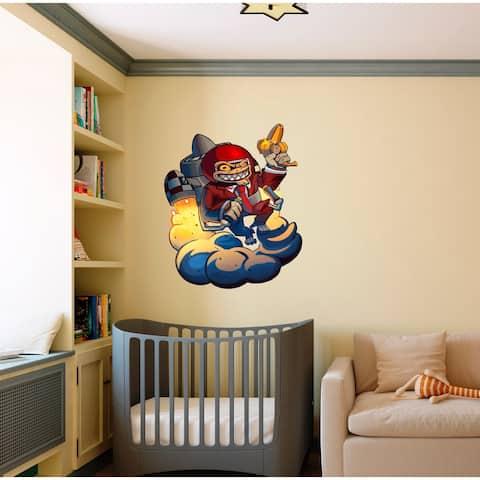 Space Monkey Decal, Space Monkey Sticker, Space Monkey Wall Decor