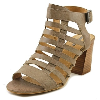Tahari Avid Open-Toe Leather Heels