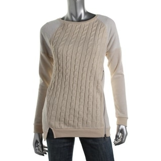 Sanctuary Womens Cable Knit Zipper Pullover Top - XS