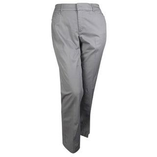 JM Collection Women's No Gap Waistband Cotton Blend Pants