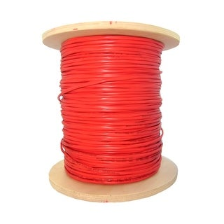 Offex 6 Fiber Indoor Distribution Fiber Optic Cable, Multimode, 62.5/125, Orange, Riser Rated, Spool, 1000 foot