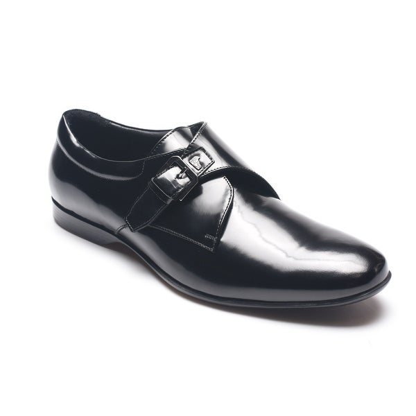 Versace Collection Men's Shiny Black Oxfords Dress Shoes