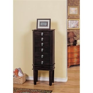 CTE Trading SW1120-M-BR 5 Drawer Jewelry Armoire - Brown