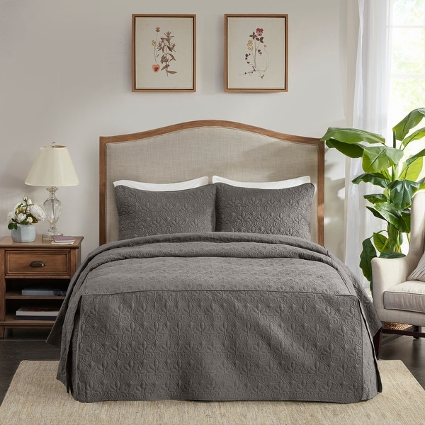 Madison Park Mansfield Fitted Bedspread Set. Opens flyout.