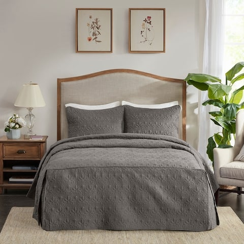 Madison Park Mansfield Fitted Bedspread Set