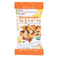 Made In Nature Organic Tropical Fusion - Dried Fruit - Case of 18 - 1 oz.