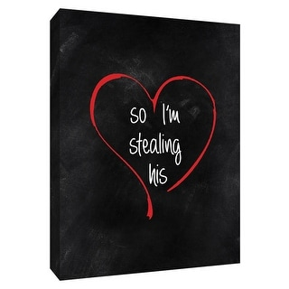 "PTM Images 9-148563  PTM Canvas Collection 10"" x 8"" - ""Stolen Heart II"" Giclee Sayings & Quotes Art Print on Canvas"