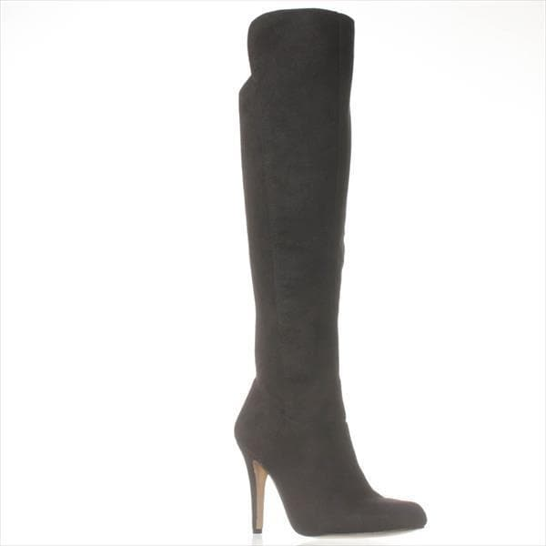 I35 Tacy Knee-High Heel Boots, Black