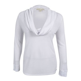 MICHAEL Michael Kors Women's Long Sleeve Cowlneck Thermal Top