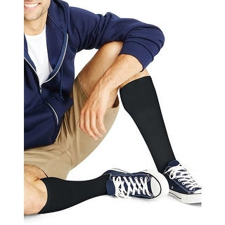 Hanes ComfortBlend Over-the-Calf Crew Socks 6-Pack