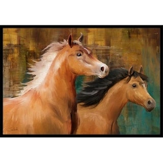 Carolines Treasures PTW2021JMAT Horse Duo Indoor & Outdoor Mat 24 x 36 in.