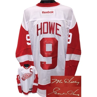 designer fashion d3749 798a7 Gordie Howe signed Detroit Red Wings White Reebok Premiere Licensed Jersey  XL Mr Hockey